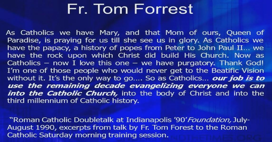 41 Fader Tom Forest citat